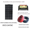 Solar Panel 150W Solar Complete Kit System For Boat, RV, Camper with Solar Charge Controller and Extension Solar Cable