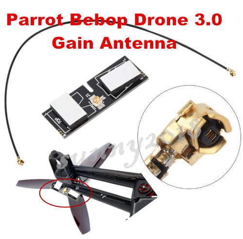 Parrot Bebop Drone 3.0 Quadcopter PCB Dual-frequency High Gain Antenna Aerial great improve FPV signal and range hot sell leadingstar quadrocopter h501s enhanced fpv frame distance 5 8ghz 14dbi high gain panel antenna 2 4ghz 3dbi antenna kit