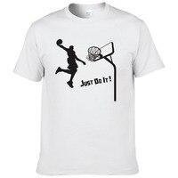 Летние Повседневное хлопка Slam Dunk футболка Для мужчин стрелять в корзину короткий рукав Футболка Для мужчин s футболки WNF