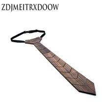 ZDJMEITRXDOOW Fabrika Doğrudan moda Ahşap kravat 100% El Yapımı Klasik Paisley Bağları Erkekler için resmi giysi ahşap kravat Yılbaşı hediyeleri