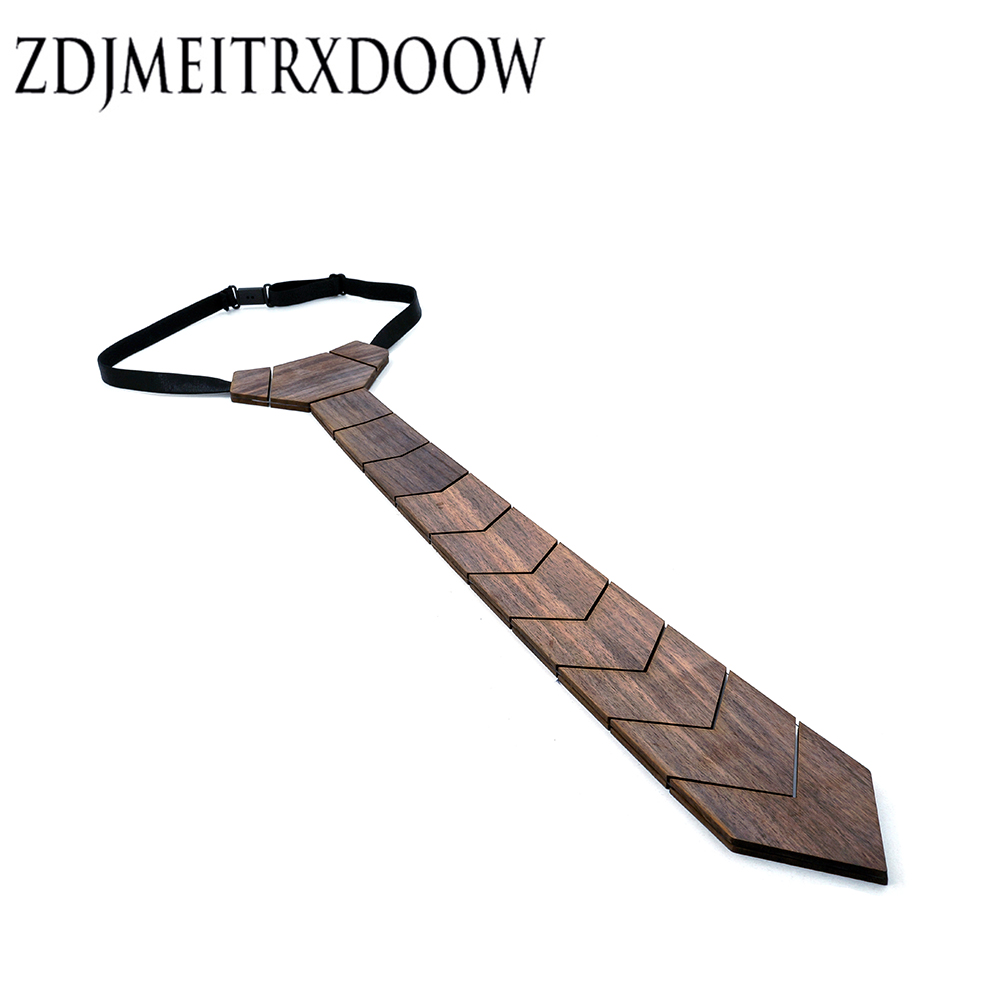 ZDJMEITRXDOOW Factory Direct Fashion Wooden Tie 100% Handmade Classic Paisley Ties For Men Formal Wear Wood Tie Christmas Gifts