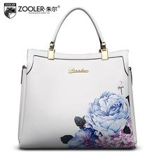 2016 New zooler genuine leather women bag designers brand designers fashion printing quality women leather handbags shoulder bag