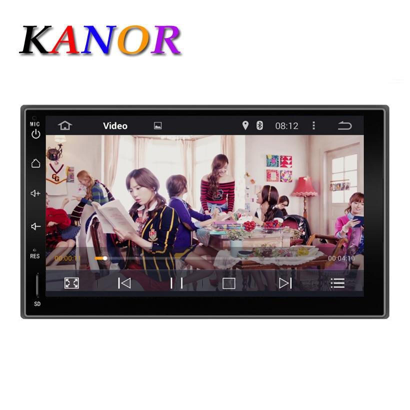 Kanor 7 «2Din 1024*600 Android 7.1 Автомобильные ПК Планшеты 2 din универсальный для Nissan GPS навигации BT Радио Стерео аудио плеер (нет DVD)