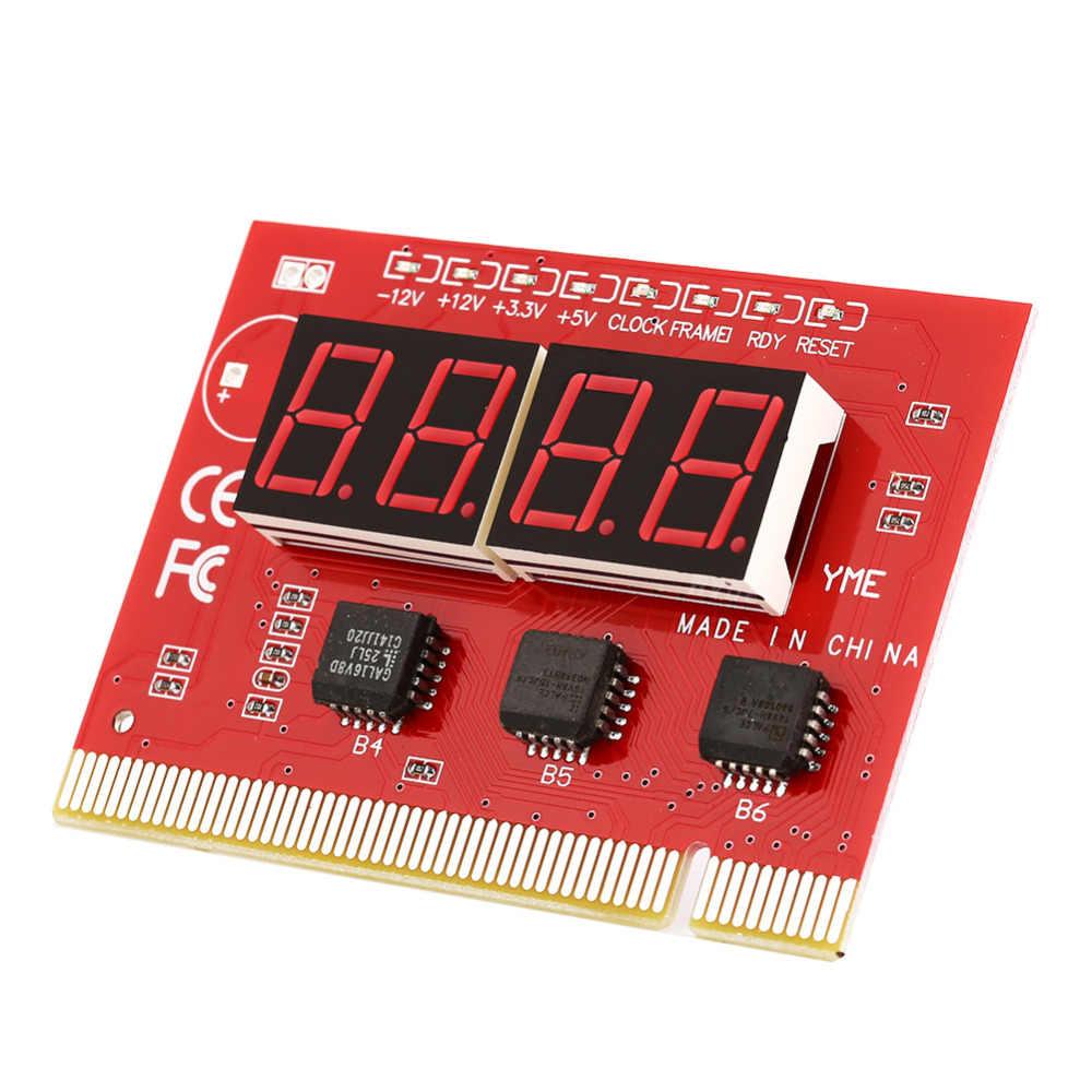 Placa base de ordenador LED 4 dígitos análisis diagnóstico tarjeta postal PCI alta calidad