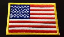 9 см * 6 нашивка с американским флагом нации вышивка и боковой