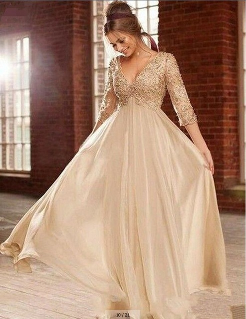 Cheap champagne wedding dress