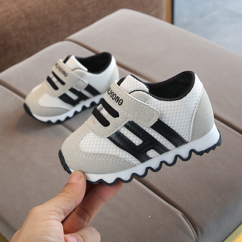 Toddler Baby Casual Shoes Kids Mesh Striped Patchwork Tennis Shoes Soft Bottom Breathable Infant Sneakers Newborn Boy Girl Shoes