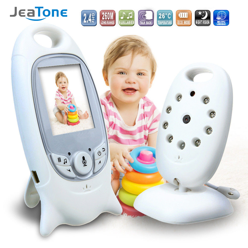 JeaTone 2 LCD Display Baby monitor Intercom with 2 way-talk ,Temperature monitoring and Music babysitter Surveillance Camera