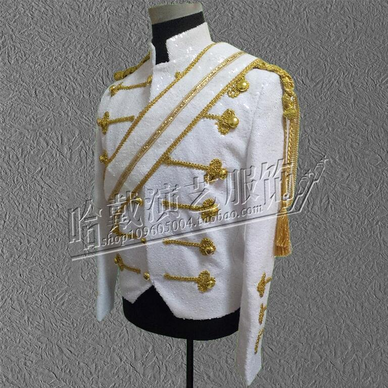 2016 Michael Jackson dance stage jacket uniform space step sequins outwear stage costumes clothing !