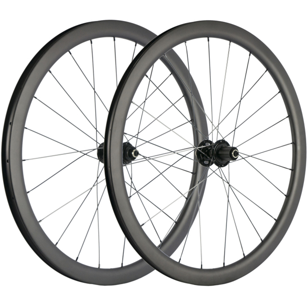 80mm Disc brake Road bike wheels Carbon Wheelset Clincher 700C Matt Race 6 bolts