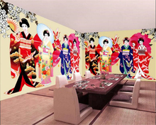 beibehang Custom wallpaper beautiful fashion Japanese beauty suitable for dining background wall 3d papier peint