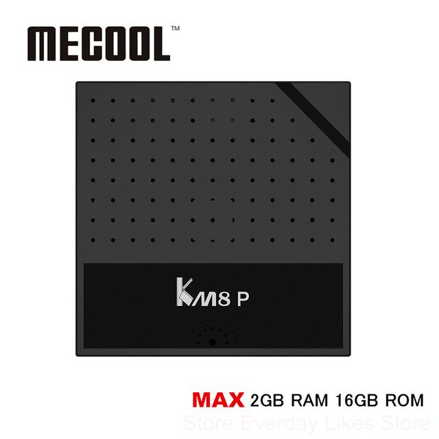 Mecool KM8 P TV Caja Amlogic S912 Octa Núcleo TVBox Android 6.0 BRAZO Mali-T820MP3 1 GB DDR3 RAM 8 GB eMMC ROM 2.4 GHz WiFi HDMI 2.0 4 K