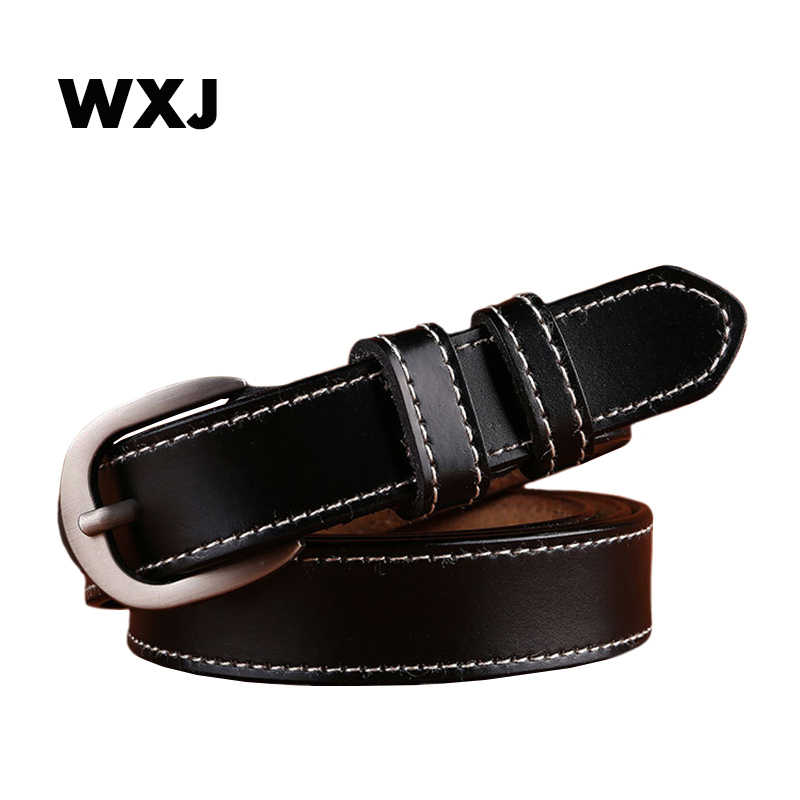 WXJ 革ベルトファッションピンバックル女性ベルト高品質牛革ジーンズストラップ女性 W020