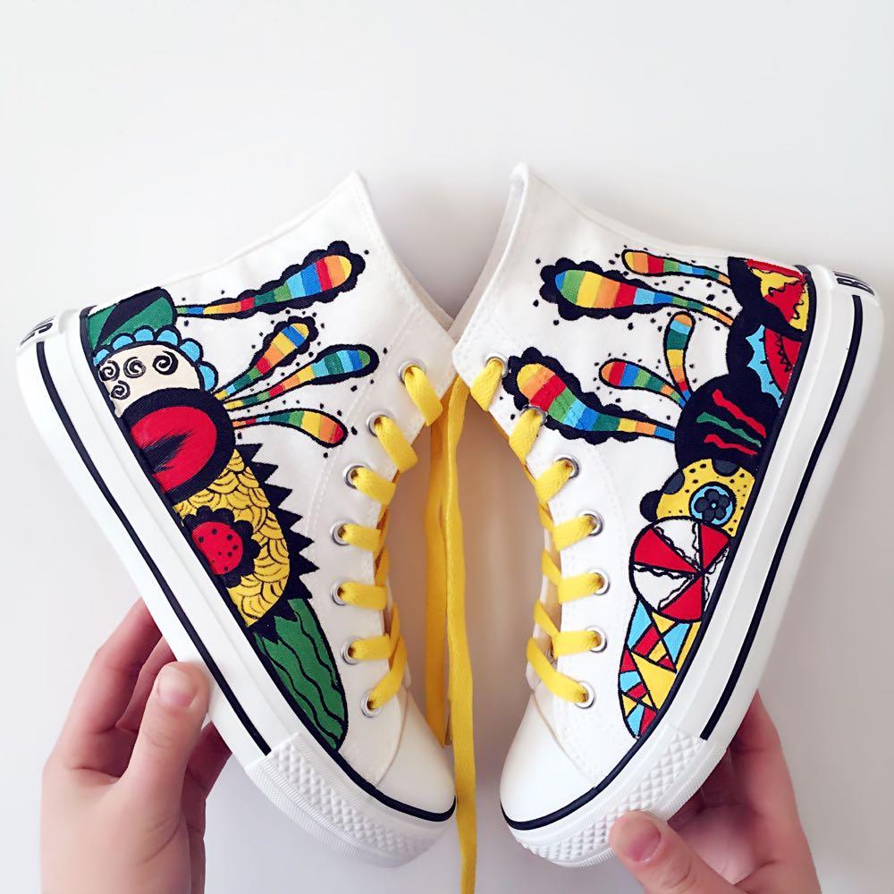 Women\u0027s Shoes Fashion Design 2018 Summer Doodle Casual Shoes
