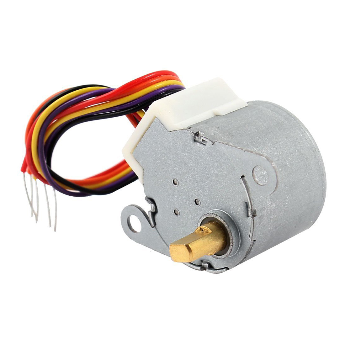 SHGO Hot <font><b>DC</b></font> <font><b>12V</b></font> CNC Reducing Stepping Stepper Motor 0.6A 10oz.in <font><b>24BYJ48</b></font> Silver image
