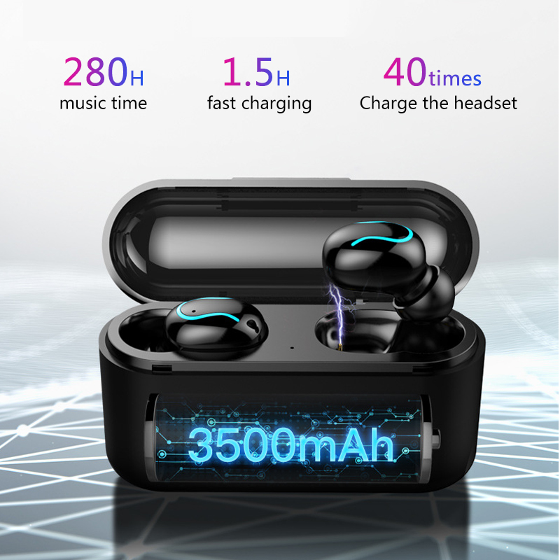 8D Stereo Sound Bluetooth V5 Earphone Portable TWS Wireless Touch Earbud With Charge Case Sport Bass Headset Auto Power 5