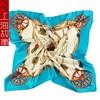 90cm Women Square Silk Scarf Classic Royal Printed Satin Silk Scarves Hijab Bandana Ladies Neckerchief Kerchief
