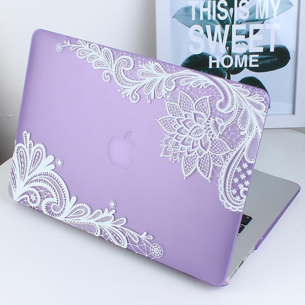 Nowa moda dla dziewczyn Matte Lace Hard Case Cover do Macbook Air 13 - Akcesoria do laptopów - Zdjęcie 2