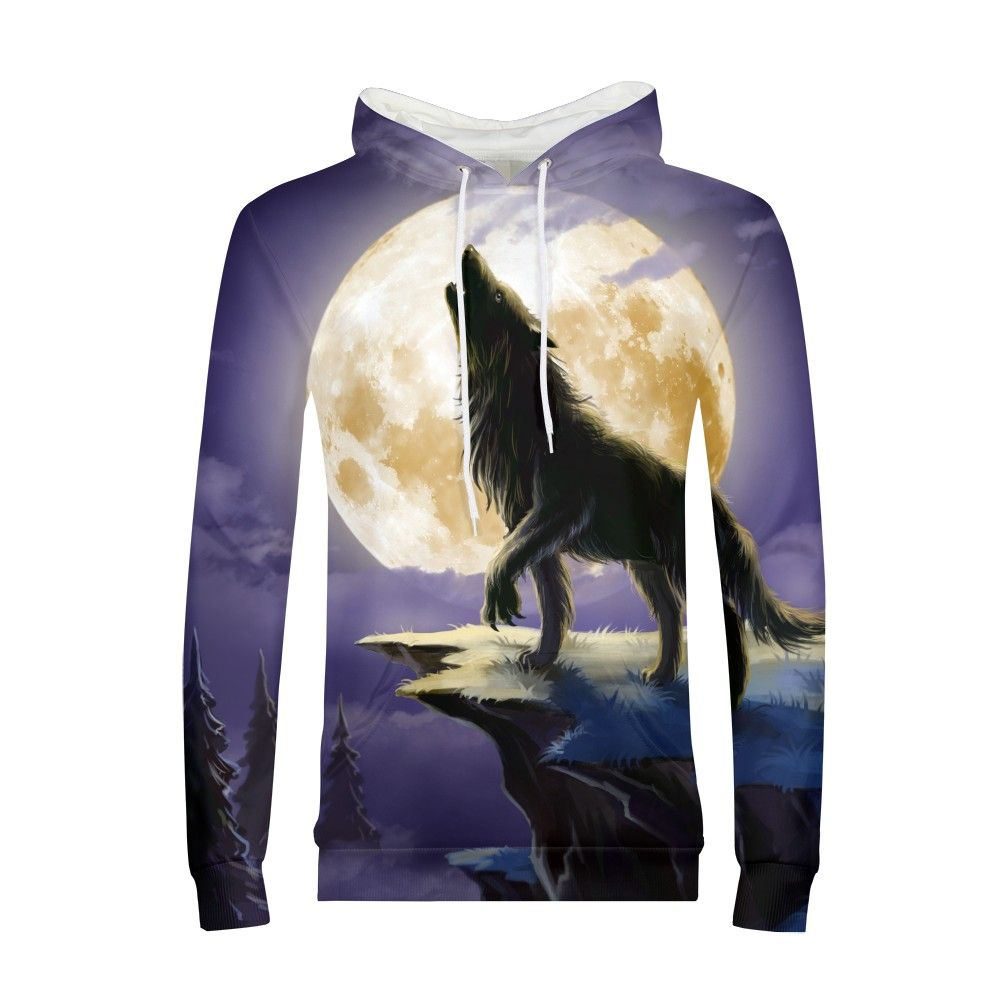 3D Wolf Hoodies For Teen Boys Men Printed Sweatshirts Hip Hop Hooded Tracksuits Crazy Animals Coats Fashion Outwear