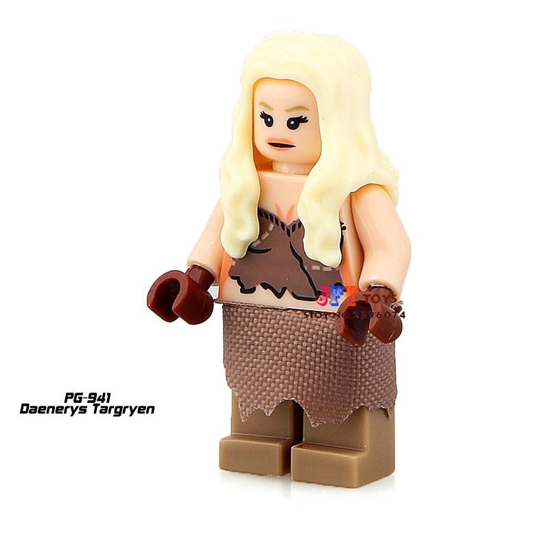 Single Sale star wars superhero marvel Game of Thrones Daenerys building blocks model bricks toys for children brinquedos menino