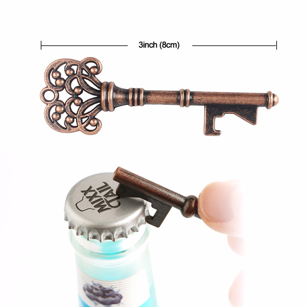 1Piece Vintage Metal Bottle Beer Opener Keychain Wedding Favors and ...