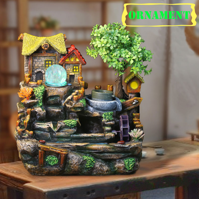 No 1717 water fountain fengshui ornament artificial aromatherapy 1717 water fountain fengshui ornament artificial aromatherapy indoor air humidifier new year home decoration christmas gifts in figurines miniatures from workwithnaturefo