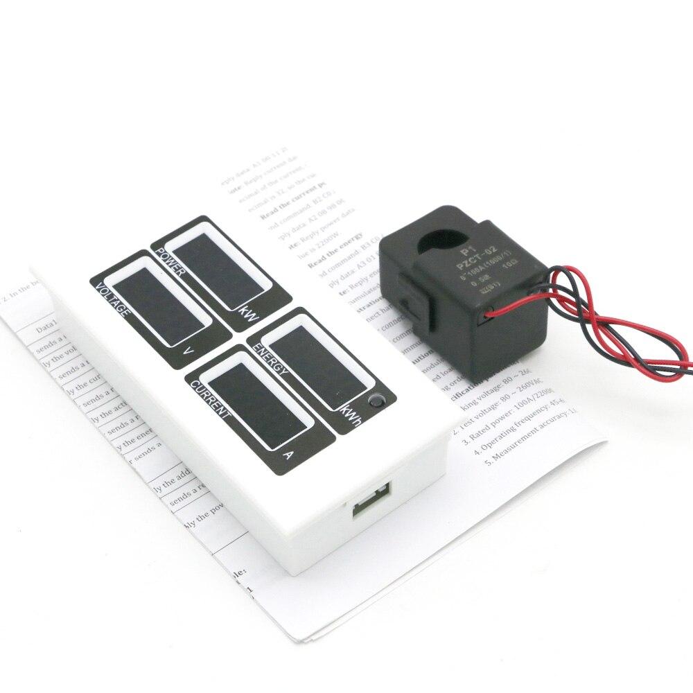 با کیفیت بالا AC 80-260V دیجیتال 100A وات ولت - ابزار اندازه گیری