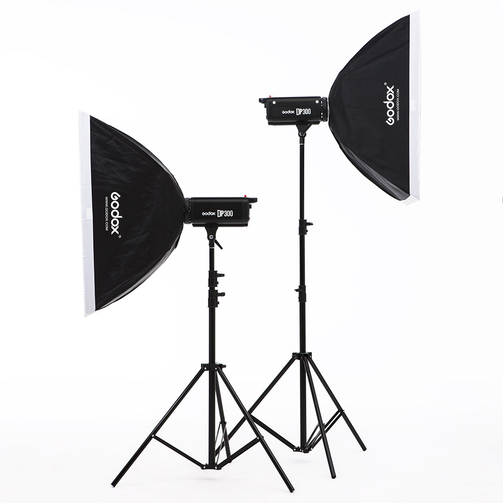 godox dp300w flash softbox photography light photographic equipment lamp set studio lights photography lights studio light set photography light box suitcase photo box photographic equipment 50x50cm no00dc