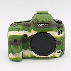 Image 2 - סיליקון שריון עור מקרה גוף כיסוי מגן נגד החלקה מרקם עיצוב עבור Canon EOS 5D סימן III 3 5D3 /5Ds R/5Ds מצלמה רק