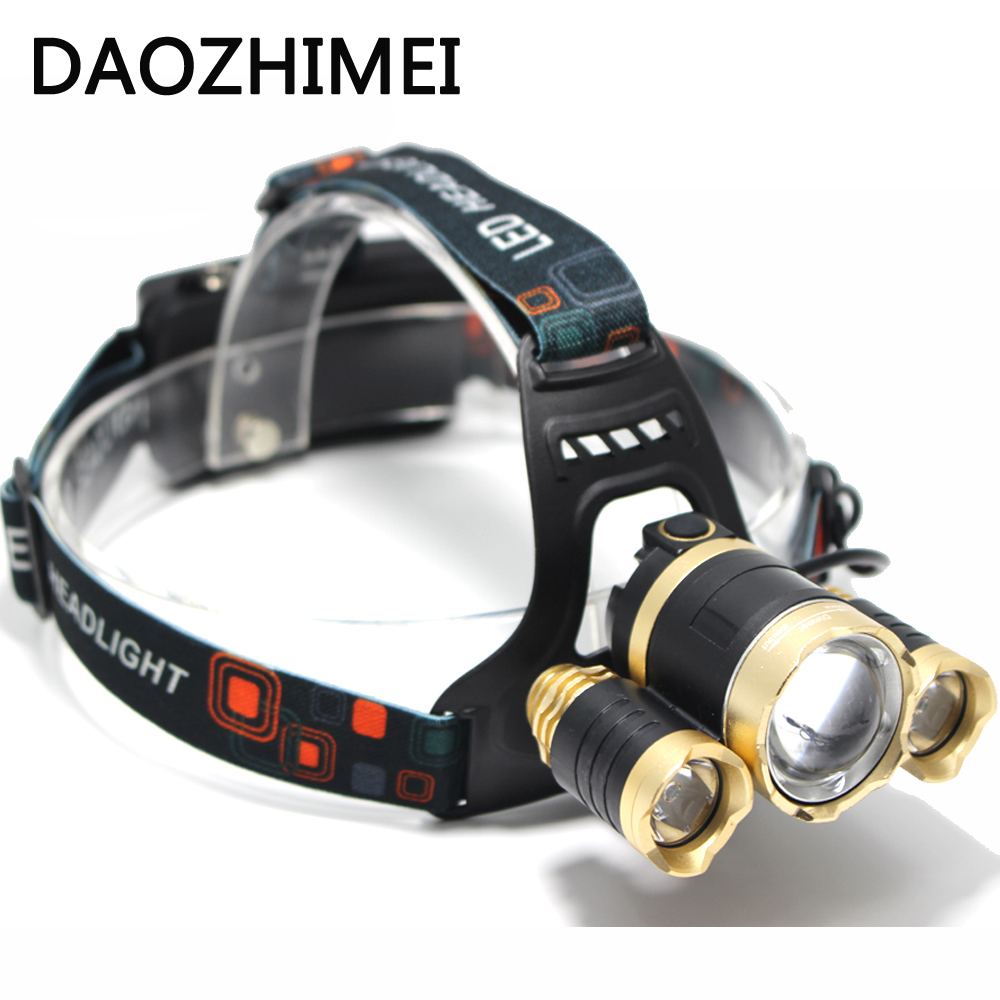 Led Headlight 3T6 9000Lm led Head Lamp Rechargeable Headlamp Flashlight Head Torch Linterna Xml T6+2Q5 7500Lm torch