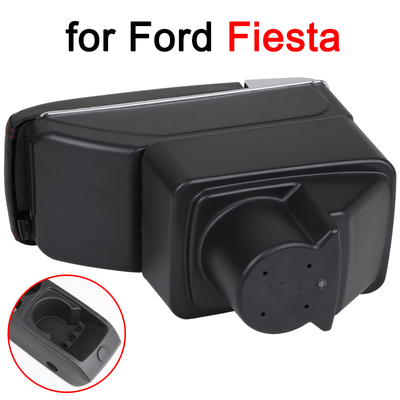 Image 3 - For Ford Fiesta Armrest Box Ford Fiesta Universal Car Central Armrest Storage Box cup holder ashtray modification accessories-in Armrests from Automobiles & Motorcycles