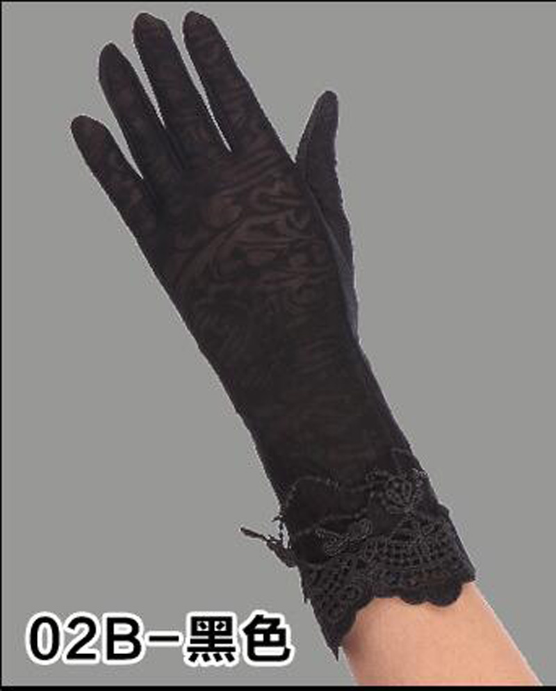 HTB1RAC6RFXXXXcYaXXXq6xXFXXXS - Sexy Summer Women UV Sunscreen Short Sun Female Gloves Fashion Ice Silk Lace Driving Of Thin Touch Screen Lady Gloves G02E