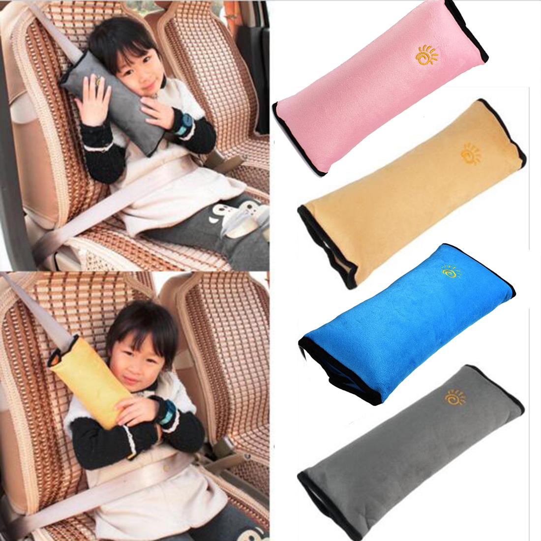 Honey Baby Pillow Safety Seat Belt Harness Shoulder Pad Cover Children Protection Covers Cushion Support Strollers Accessories