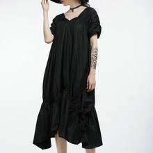 Винтажное плиссированное платье с каскадными оборками женское