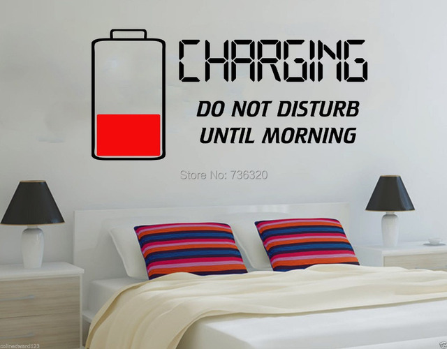creative bettery style vinyl wall decal do not disturb charging wall