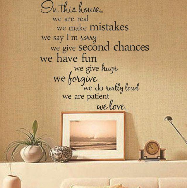 Online Shop Home Decor Living Room DIY Black Wall Art Decals ...