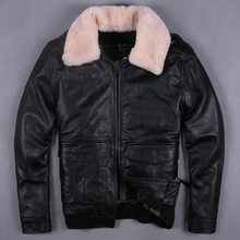 air force flight suit G1 pilot thick warm leather jacket genuine cow leather clothing thickening cowhide leather jacket