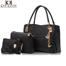 Famous Brand Women Bag Top-Handle Bags 2016 Fashion Women Messenger Bags Handbag Set PU Leather Composite Bag