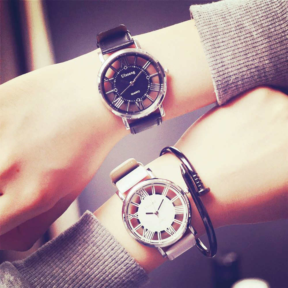 New Lover's watch Men Women Trend Classic Hollow Wrist watches Neutral Fashion Personality Simple Fashion Unique watch Relogio