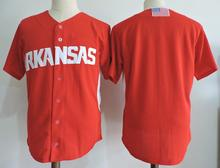 f26f50575 do dower Arkansas Razorbacks College baseball Men s Embroidery Stitched  Custom any