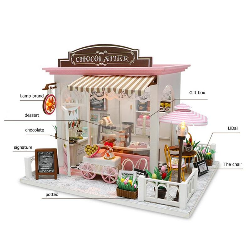 Bella's Chocolatier DIY 3D Miniature Chocolate Shop