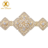 All Diamonds Belt Rhinestone Body Jewelry Adjustment Length European Belt