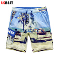 LKBEST New summer men beach shorts high quality Hawii men's board shorts cotton male swimwear trunks plus size N1453