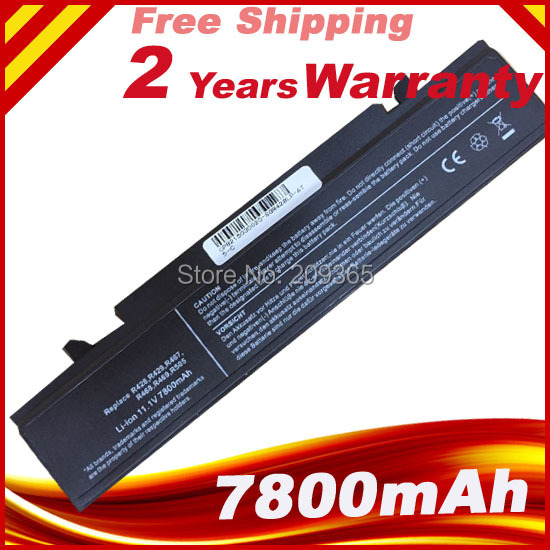 7800mAh 9 Cells battery For Samsung R523 R525 R528 R530 R580 R581 R590 R610 R620 R700 R710 R718 R720 R728 NP-R518 NP-R519