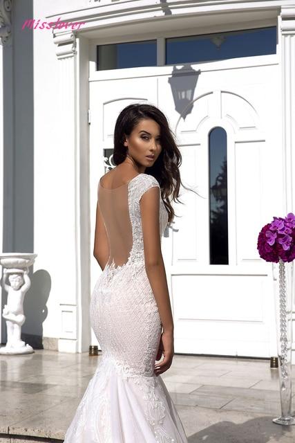 Robe de mariee sexy Illusion V-neck Backless Lace Mermaid Wedding Dresses 2021 new Luxury Bridal Gown vestidos de noiva 3