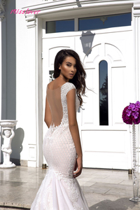 Image 3 - Robe de mariee sexy Illusion V neck Backless Lace Mermaid Wedding Dresses 2019 new Luxury Bridal Gown vestidos de noiva