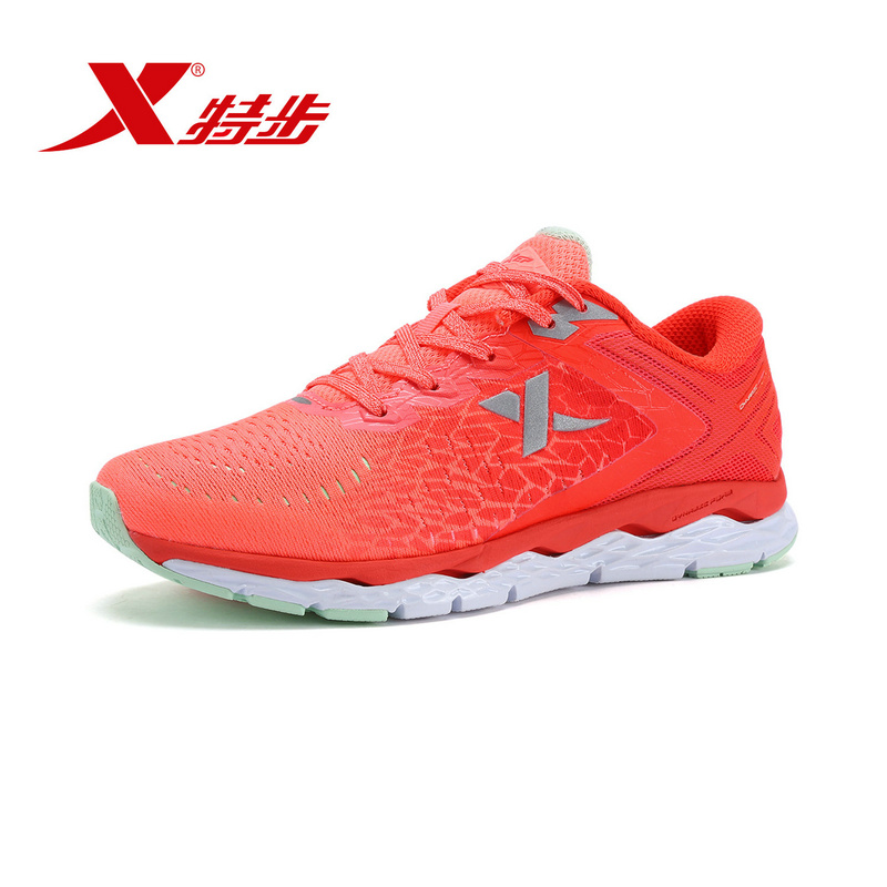 XTEP Brand Breathable Running Shoes for Women Air Mesh Professional Shoes Athletic Sport Sneakers free shipping 983118116237 kelme 2016 new children sport running shoes football boots synthetic leather broken nail kids skid wearable shoes breathable 49