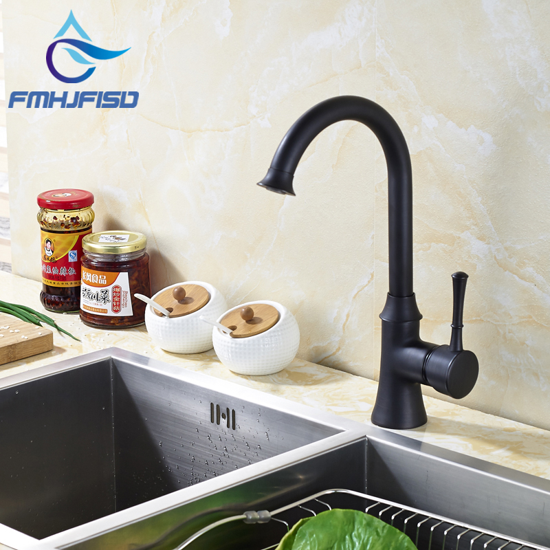 Oil Rubbed Bronze Wholesale and Retail High Quality Kitchen Sink Mixer Faucet W/ Hot Cold Water allen roth brinkley handsome oil rubbed bronze metal toothbrush holder