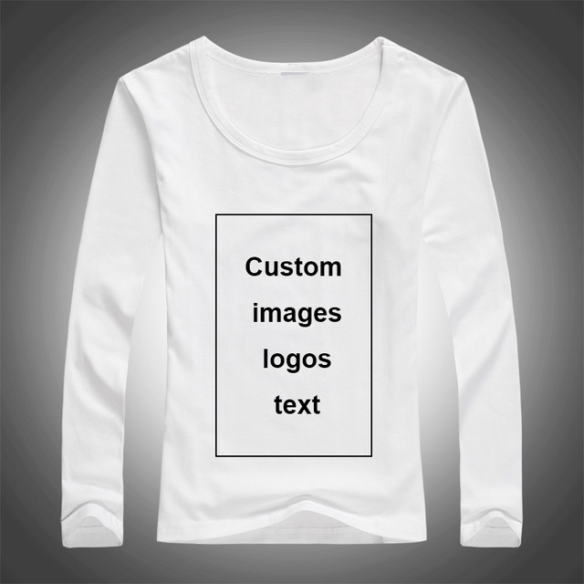 Us 7 67 40 Off Custom Print Long Sleeve T Shirt For Women Diy Picture Logo Text Top Tees Size S 3xl Modal Heat Transfer Process In T Shirts From