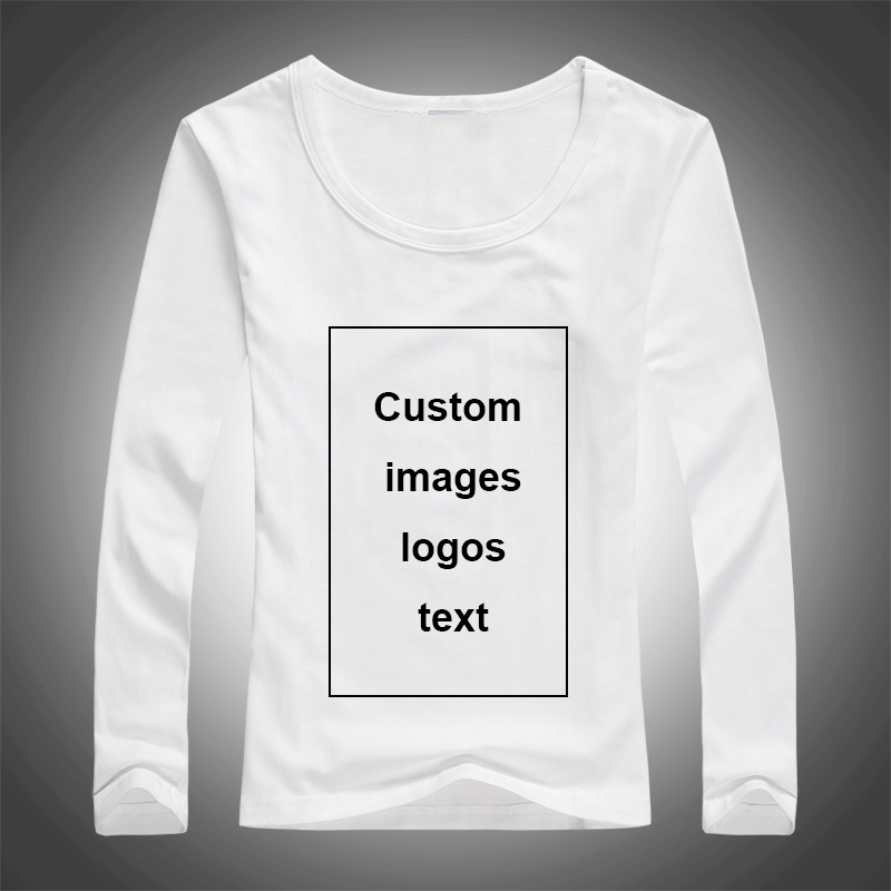 Custom Print Long Sleeve T-shirt for Women DIY Picture Logo Text Top Tees Size S-3XL Modal Heat Transfer Process